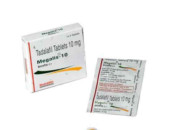 MEGALIS 10mg Tablet – Tadalafil 10mg