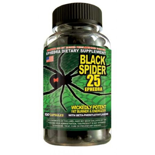 Black Spider 25 Ephedra Fat Burner