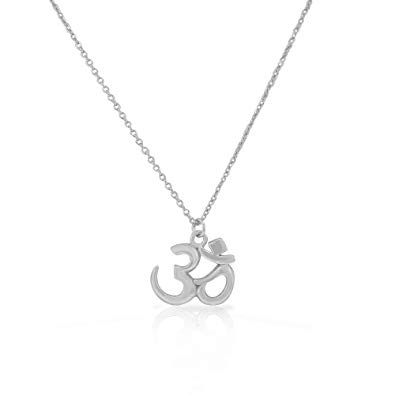 925 Sterling Silver Religious Jewellery Hindu OM Pendant And Chain 3