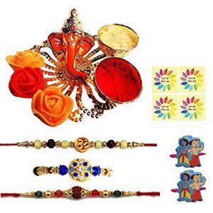 Complete Indian Rakhi Thali Set/Rakhi Platter. Thread/Bracelet/for Bhaiya, Bhabhi On Indian Rakhi Rakshabandhan Festival,?