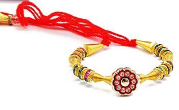 Complete Indian Rakhi Thali Set Rakhi Platter Thread Bracelet for Bhaiya, Bhabhi on Indian Rakhi Rakshabandhan Festival_3