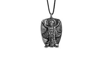 DollsofIndia Chaitanyadev Pendant – Cord Length – 22 inches Pendant – 1.5 inches_2