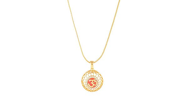 Estelle Gold OM [AUM] Pendant Locket Necklace In Latest Designs For Women Spiritual Religious Jewellery Hindu Symbol Lockets For Boys And 2