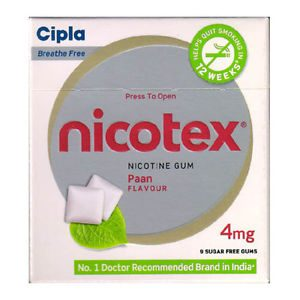Nicotex 4mg Chewing Gums Paan Flavour