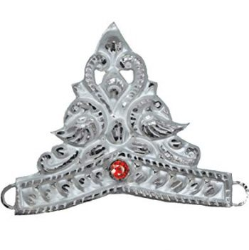RAJLAXMI JEWELLERS 925 92.5 Pure Silver MUKUT Crown for Hindu GOD and Men and Women_2
