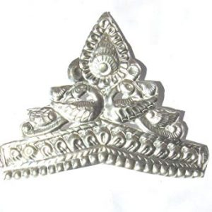 RAJLAXMI JEWELLERS 925/92.5 Pure Silver MUKUT/Crown For Hindu GOD And Men And Women (Size?