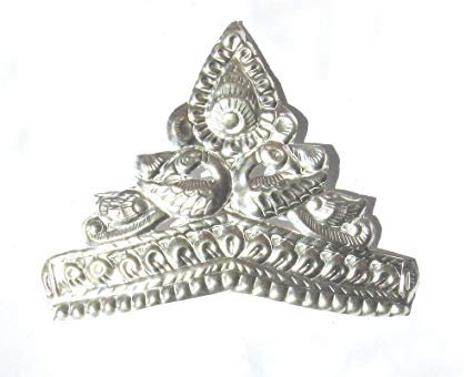 RAJLAXMI JEWELLERS Pure Silver MUKUT Crown For Hindu GOD And Men And Women 4