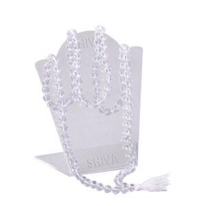 Shiva Rudraksha Ratna Natural Quartz Crystal / Sphatik Certified Mala Rosary