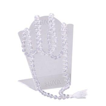 Shiva Rudraksha Ratna Natural Quartz Crystal Sphatik Certified Mala Rosary_3