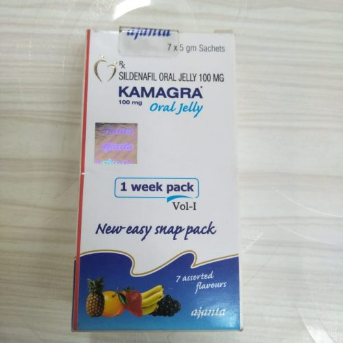 KAMAGRA 100mg ORAL JELLY 1 WEEK PACK VOL-I NEW EASY SNAP PACK / SILDENAFIL ORAL JELLY 100mg – AJANTA PHARMA